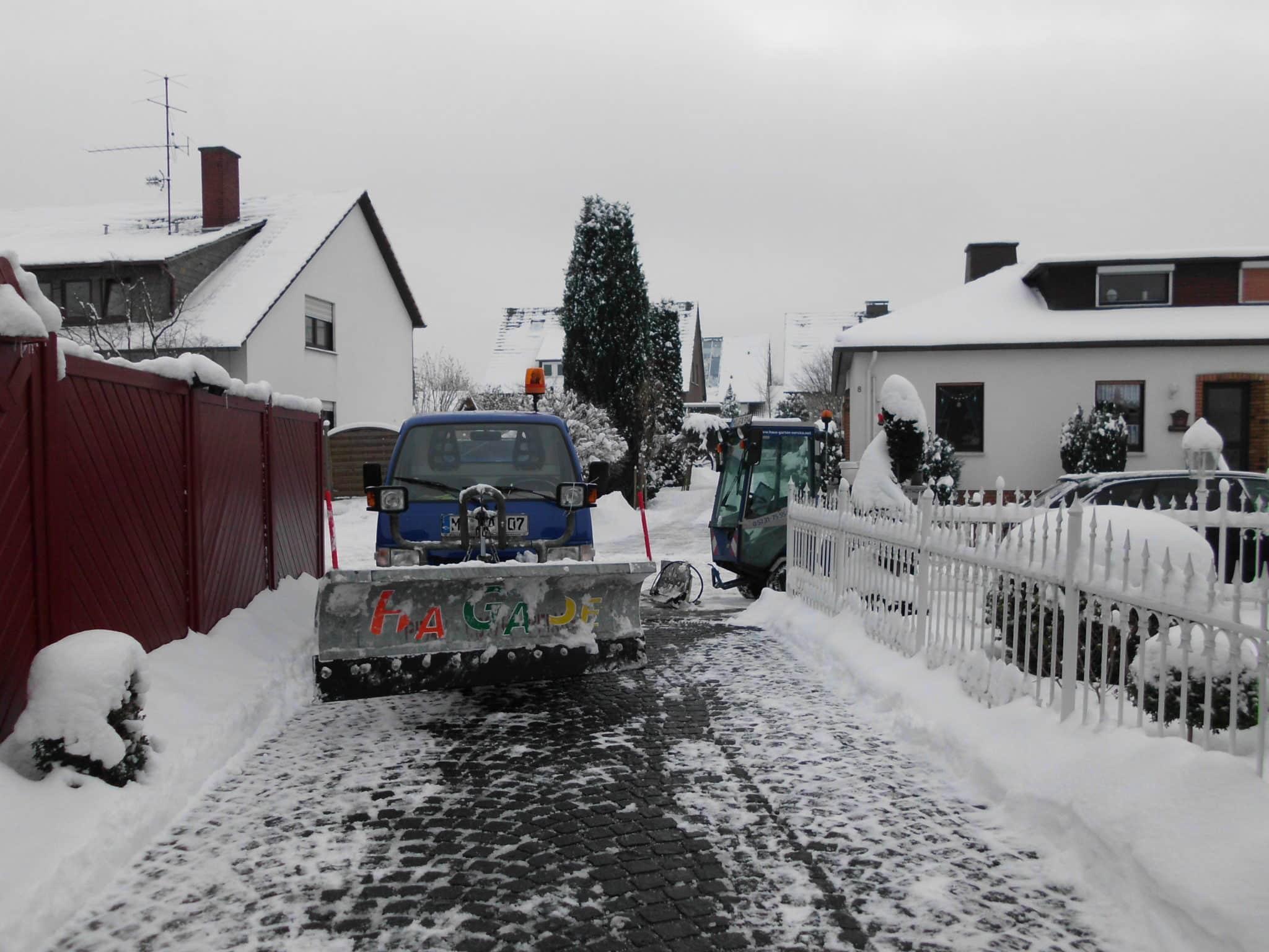 Winterdienstan Wohnhäusern Bad Oeynhausen