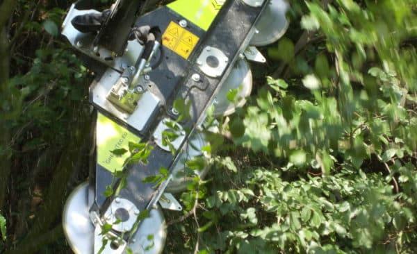 Überhang abschnieden mit Radlader und Astsäge Bad Oeynhausen